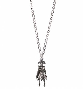 Sterling Silver Harry Potter Dobby The House Elf Charm Necklace