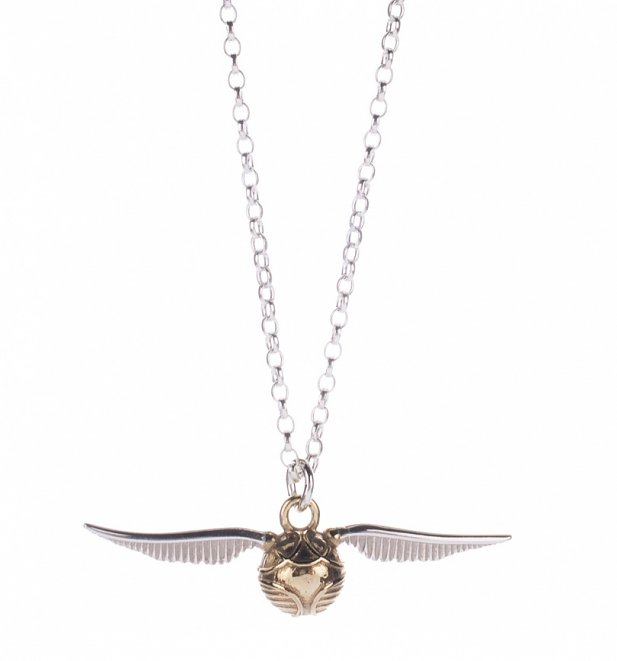 Sterling Silver Harry Potter Golden Snitch Charm Necklace