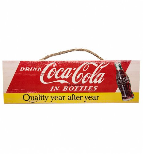 Vintage Distressed Coca-Cola Quality Wooden Wall Sign
