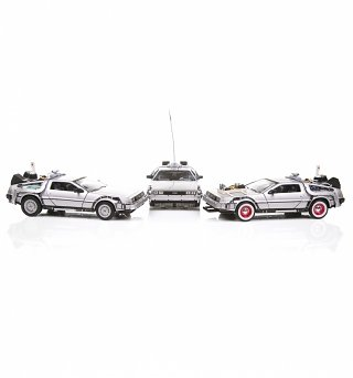 Welly Back To The Future Trilogy 1:24 Scale Diecast Model Set