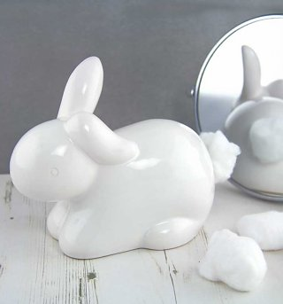 Wonderland Bunny Cotton Tail Cotton Wool Dispenser