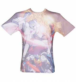 Unisex Transformers Space Battle All Over Print T-Shirt
