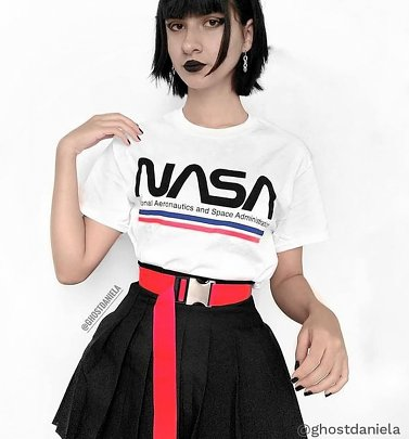 White NASA Stripes T-Shirt